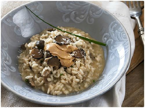 Receta de risotto de boletus del blog Sabores de colores