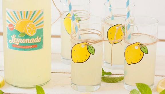 Receta casera de limonada del blog Atrapada en mi cocina