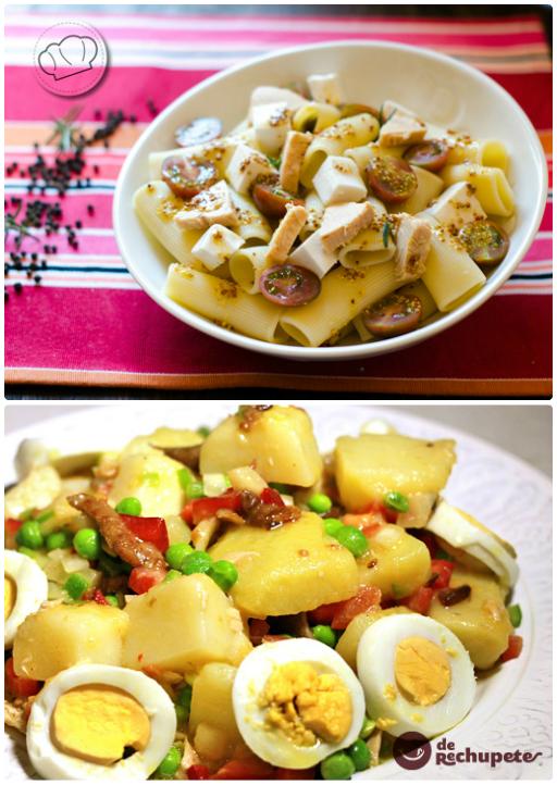 Ensalada de pasta y ensalada campera de Pepacooks y derechupete