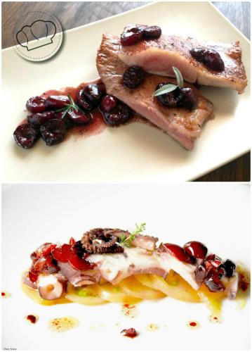 Las cerezas son ideales para acompañar platos de carne y pescado