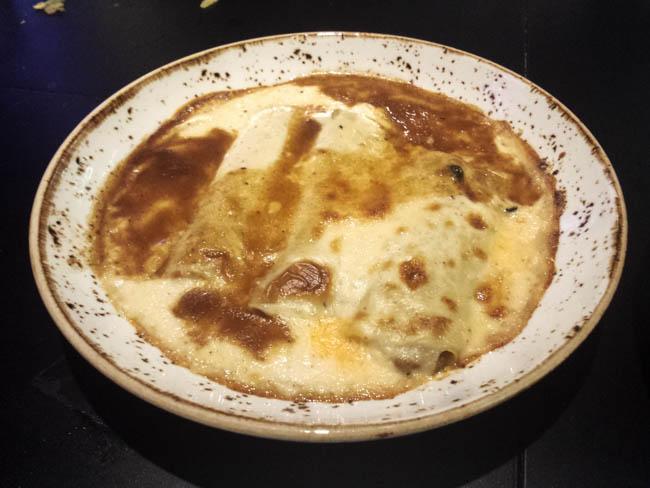 Canelones trufados de El Restaurante El gordo