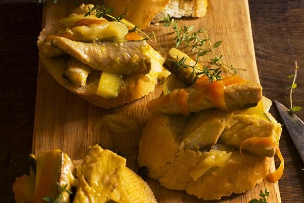 Caballa en escabeche de cítricos del blog Yerbabuena en la cocina