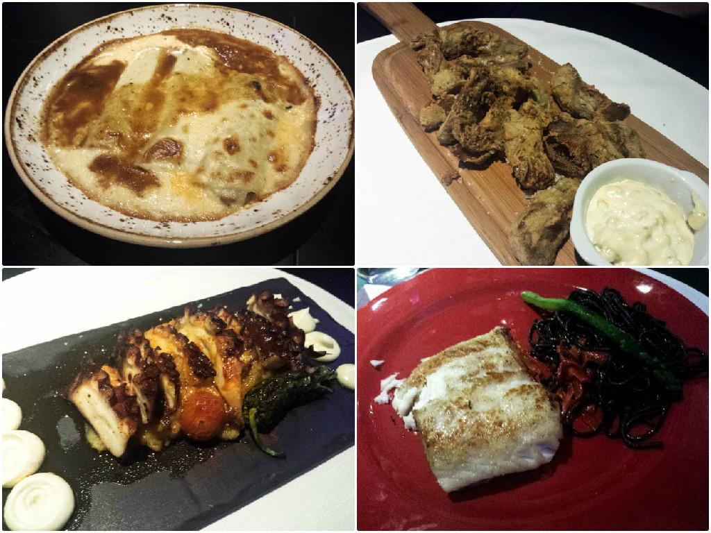 Nuestros segundos platos en el restaurante El Gordo de Velázquez