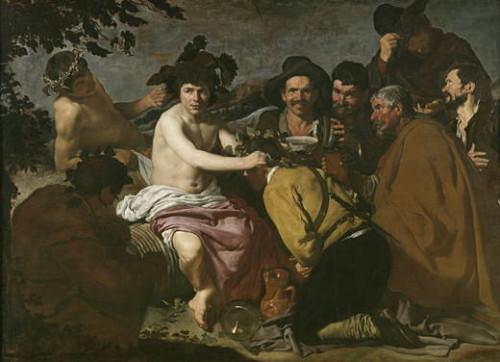 """Triunfo de Baco o """"Los Borrachos"""" de Velázquez. Foto web oficial del Museo del Prado"""