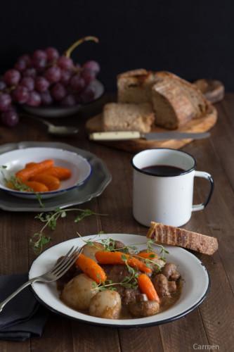 Pollo al vino en cocotte, receta ganadora del reto Recetags con Arte.