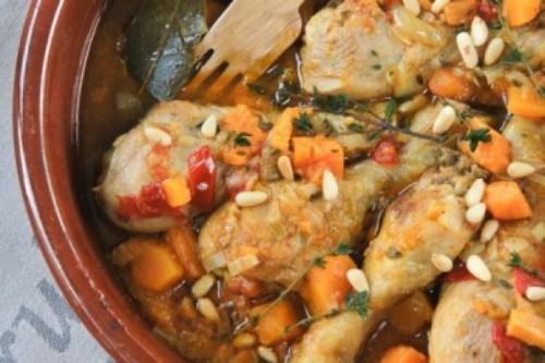 Muslitos de pollo con calabaza a las hierbas del blog L'Exquisit