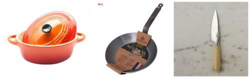 Utensilios de cocina de Claudia & Julia para el ganador del concurso