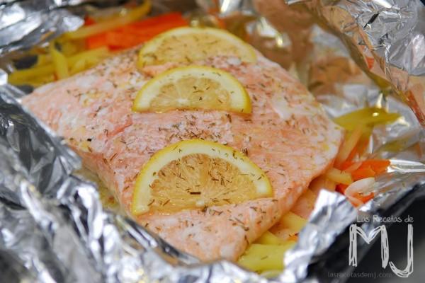Salmon en Papillote del blog Las recetas de MJ