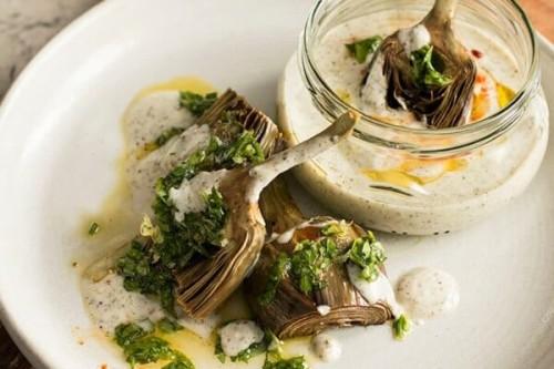 Alcachofas asadas con gremolata del blog Sweet & Sour