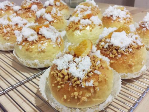 Porciones de Roscón de Reyes para probar