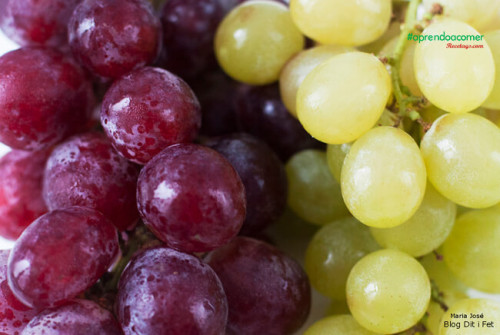 Uvas, fruta pequeña, dulce y sabrosa