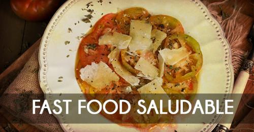 Recetario Fast Food Saludable para aprender a comer sano y mejor.