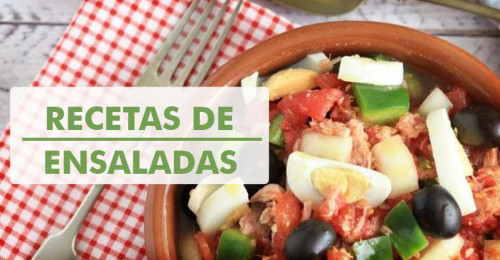 Recetario con recetas de ensaladas