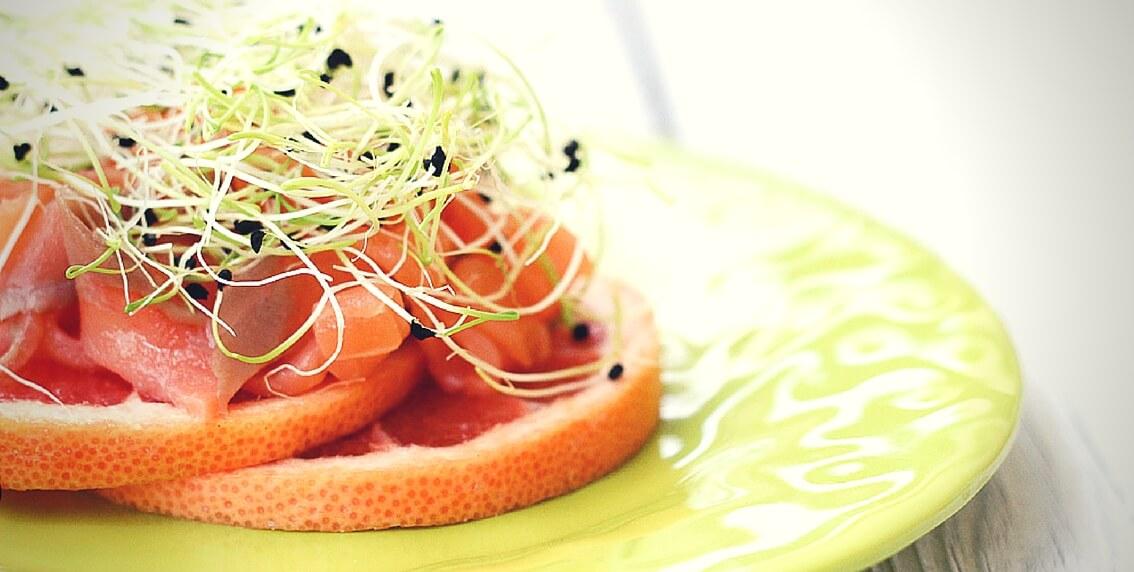 Ensalada de pomelo y salmón del blog Ytreats