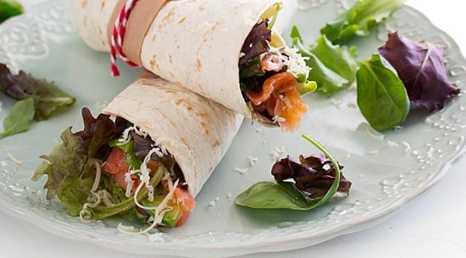 Wrap de salmón ahumado del blog La Dolce Gula