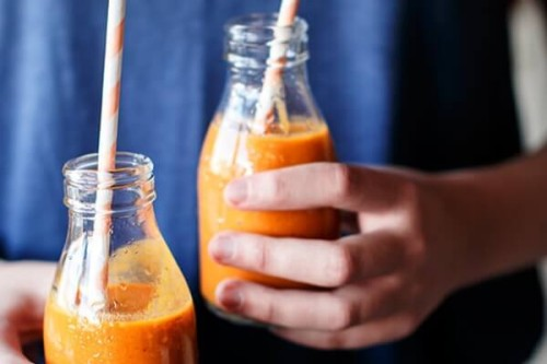 Zumo de naranja y zanahoria del blog Because