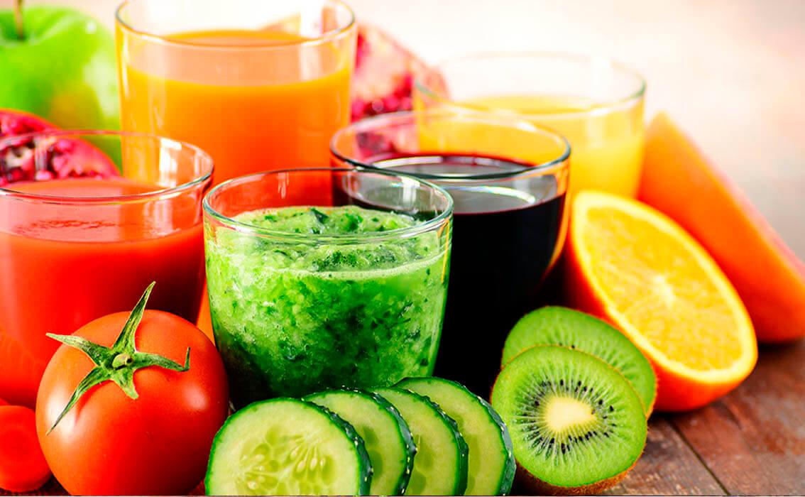 Zumos variados con las mejores frutas para Recetags