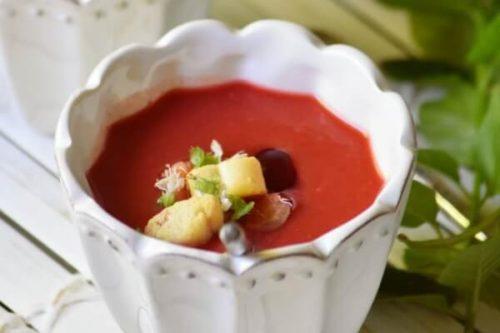 Gazpacho de cerezas del blog Chez Silvia