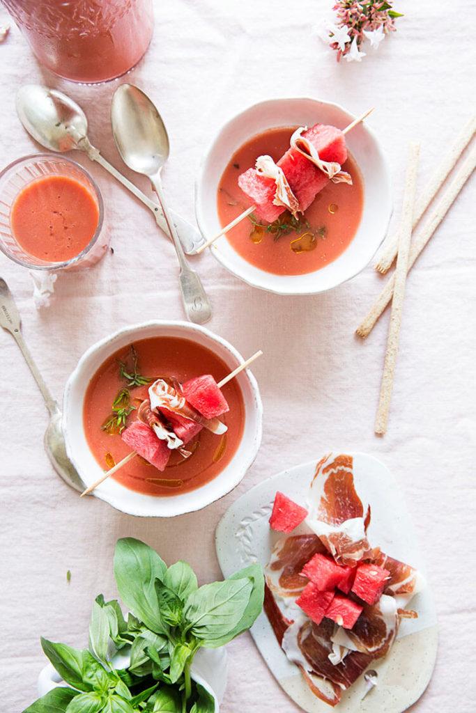 Gazpacho de sandía del blog Sweet & Sour