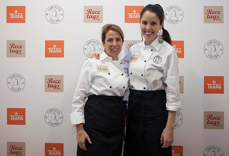 Clara P villalón y Elena Aymerich en el encuentro #RecetagsEntreAmigos